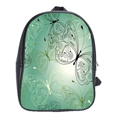 Glass Splashback Abstract Pattern Butterfly School Bags(large)