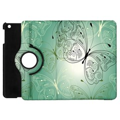Glass Splashback Abstract Pattern Butterfly Apple Ipad Mini Flip 360 Case by Mariart