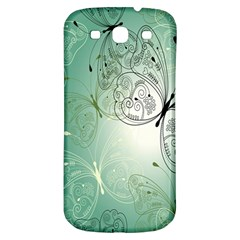 Glass Splashback Abstract Pattern Butterfly Samsung Galaxy S3 S Iii Classic Hardshell Back Case by Mariart