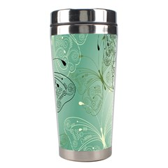 Glass Splashback Abstract Pattern Butterfly Stainless Steel Travel Tumblers by Mariart