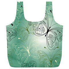 Glass Splashback Abstract Pattern Butterfly Full Print Recycle Bags (l)  by Mariart