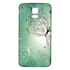 Glass Splashback Abstract Pattern Butterfly Samsung Galaxy S5 Back Case (white) by Mariart
