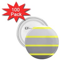 Molly Gender Line Flag Yellow Grey 1 75  Buttons (100 Pack)