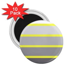 Molly Gender Line Flag Yellow Grey 2 25  Magnets (10 Pack)  by Mariart