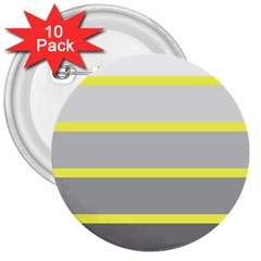 Molly Gender Line Flag Yellow Grey 3  Buttons (10 Pack)  by Mariart