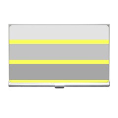 Molly Gender Line Flag Yellow Grey Business Card Holders by Mariart