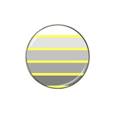 Molly Gender Line Flag Yellow Grey Hat Clip Ball Marker (10 Pack) by Mariart