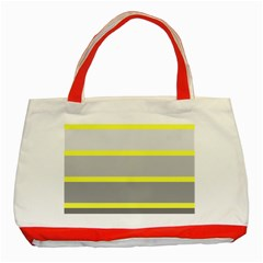 Molly Gender Line Flag Yellow Grey Classic Tote Bag (red) by Mariart