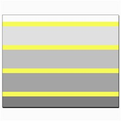 Molly Gender Line Flag Yellow Grey Canvas 8  X 10