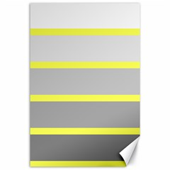 Molly Gender Line Flag Yellow Grey Canvas 24  X 36  by Mariart