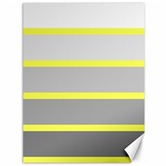 Molly Gender Line Flag Yellow Grey Canvas 36  X 48   by Mariart