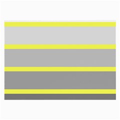 Molly Gender Line Flag Yellow Grey Large Glasses Cloth (2 Side) by Mariart