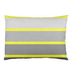 Molly Gender Line Flag Yellow Grey Pillow Case by Mariart