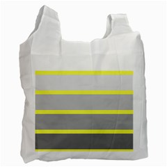 Molly Gender Line Flag Yellow Grey Recycle Bag (two Side)  by Mariart