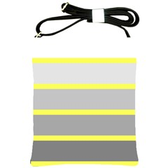 Molly Gender Line Flag Yellow Grey Shoulder Sling Bags by Mariart