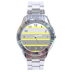 Molly Gender Line Flag Yellow Grey Stainless Steel Analogue Watch