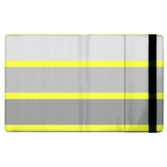 Molly Gender Line Flag Yellow Grey Apple Ipad 3/4 Flip Case by Mariart