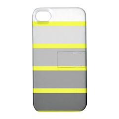 Molly Gender Line Flag Yellow Grey Apple Iphone 4/4s Hardshell Case With Stand by Mariart