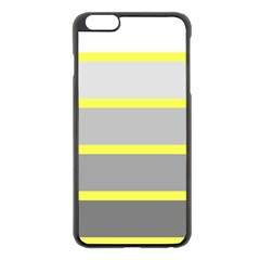 Molly Gender Line Flag Yellow Grey Apple Iphone 6 Plus/6s Plus Black Enamel Case by Mariart