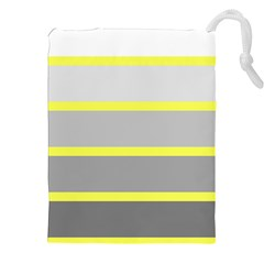 Molly Gender Line Flag Yellow Grey Drawstring Pouches (xxl) by Mariart