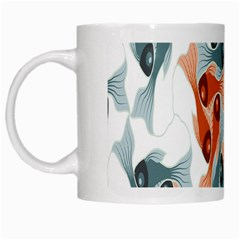 Make Tessellation Fish Tessellation Blue White White Mugs by Mariart