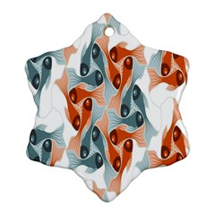 Make Tessellation Fish Tessellation Blue White Ornament (snowflake) by Mariart