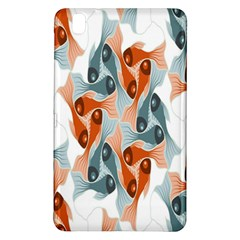 Make Tessellation Fish Tessellation Blue White Samsung Galaxy Tab Pro 8 4 Hardshell Case by Mariart