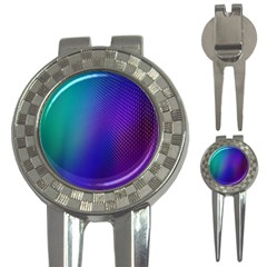 Galaxy Blue Purple 3 In 1 Golf Divots by Mariart