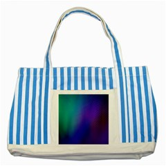 Galaxy Blue Purple Striped Blue Tote Bag by Mariart