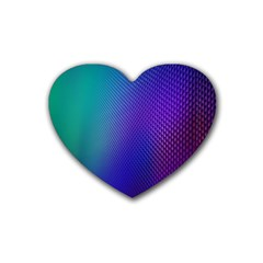 Galaxy Blue Purple Heart Coaster (4 Pack)  by Mariart
