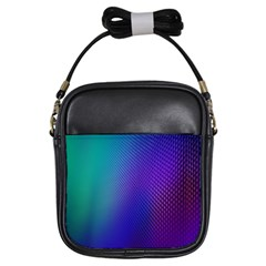 Galaxy Blue Purple Girls Sling Bags by Mariart