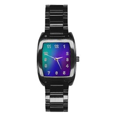 Galaxy Blue Purple Stainless Steel Barrel Watch by Mariart