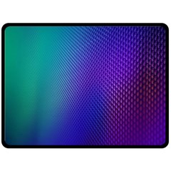 Galaxy Blue Purple Double Sided Fleece Blanket (large)  by Mariart