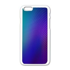 Galaxy Blue Purple Apple Iphone 6/6s White Enamel Case by Mariart