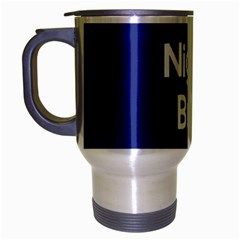 Night Bus New Blue Travel Mug (silver Gray) by Mariart
