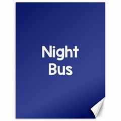 Night Bus New Blue Canvas 12  X 16   by Mariart