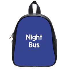 Night Bus New Blue School Bags (small)  by Mariart