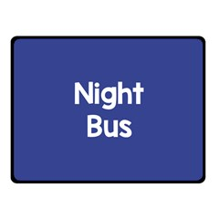 Night Bus New Blue Fleece Blanket (small) by Mariart