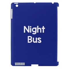 Night Bus New Blue Apple Ipad 3/4 Hardshell Case (compatible With Smart Cover)