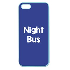 Night Bus New Blue Apple Seamless Iphone 5 Case (color) by Mariart