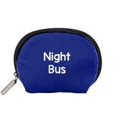 Night Bus New Blue Accessory Pouches (small)  by Mariart