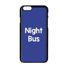 Night Bus New Blue Apple Iphone 6/6s Black Enamel Case by Mariart