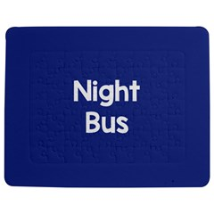 Night Bus New Blue Jigsaw Puzzle Photo Stand (rectangular) by Mariart