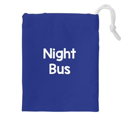 Night Bus New Blue Drawstring Pouches (xxl) by Mariart
