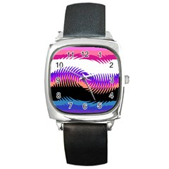 Mutare Mutaregender Flags Square Metal Watch by Mariart