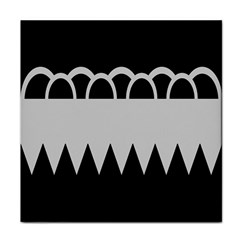Noir Gender Flags Wave Waves Chevron Circle Black Grey Tile Coasters by Mariart