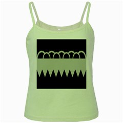 Noir Gender Flags Wave Waves Chevron Circle Black Grey Green Spaghetti Tank