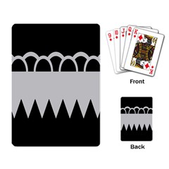 Noir Gender Flags Wave Waves Chevron Circle Black Grey Playing Card by Mariart