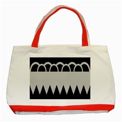 Noir Gender Flags Wave Waves Chevron Circle Black Grey Classic Tote Bag (red) by Mariart