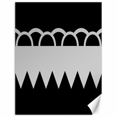 Noir Gender Flags Wave Waves Chevron Circle Black Grey Canvas 18  X 24   by Mariart
